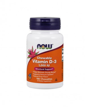Chewable Vitamin D-3 1000 IU, Fruity Flavor