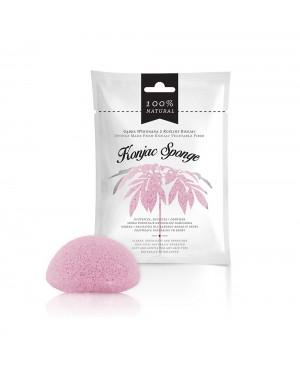 Esponja de rosto esfoliante de fibra de konjac rosa