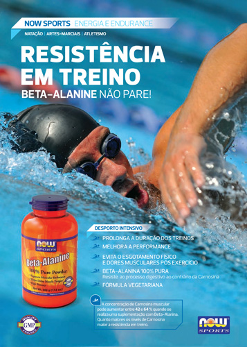 Panfleto Beta Alanine Now Foods Nasofis