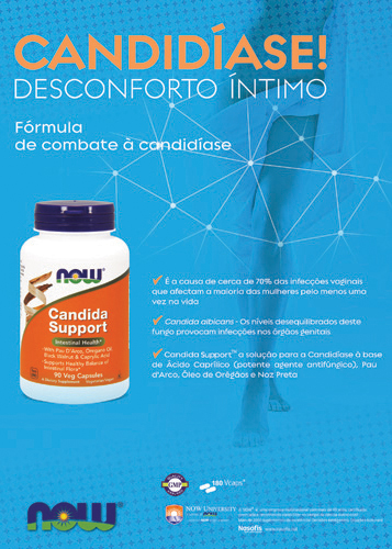 Panfleto Candida Support Now Foods Nasofis
