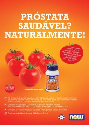 Panfleto Lycopene Now Foods Nasófis