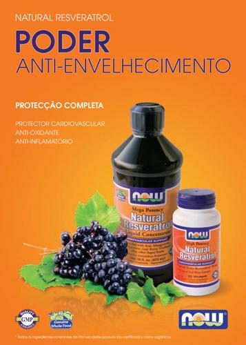 Panfleto Resveratrol Now Foods Nasofis