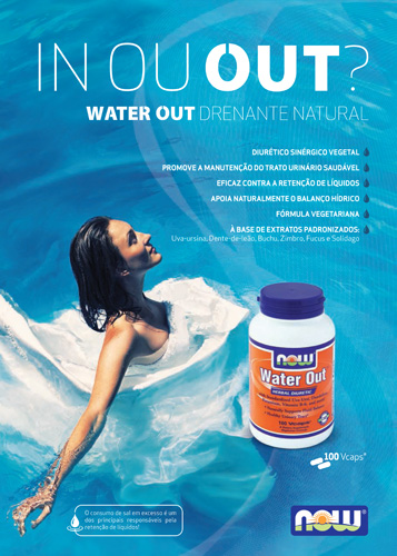 Panfleto Water Out Now Foods Nasofis